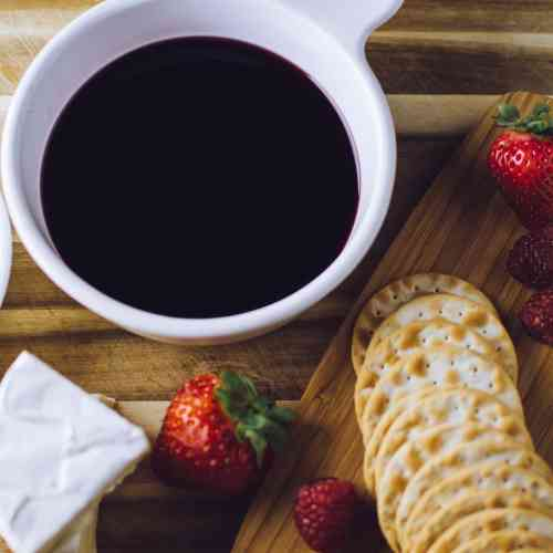Holiday Black Cherry Wine Dip