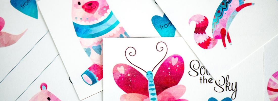 Last Minute School Valentine's Day Cards for Kids