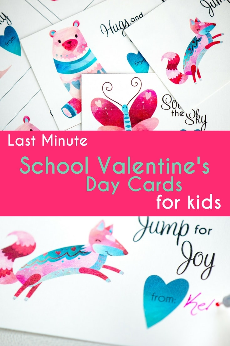 These Last Minute School Valentineu0027s Day Cards For Kids Are Simple And  Encouraging. Print On
