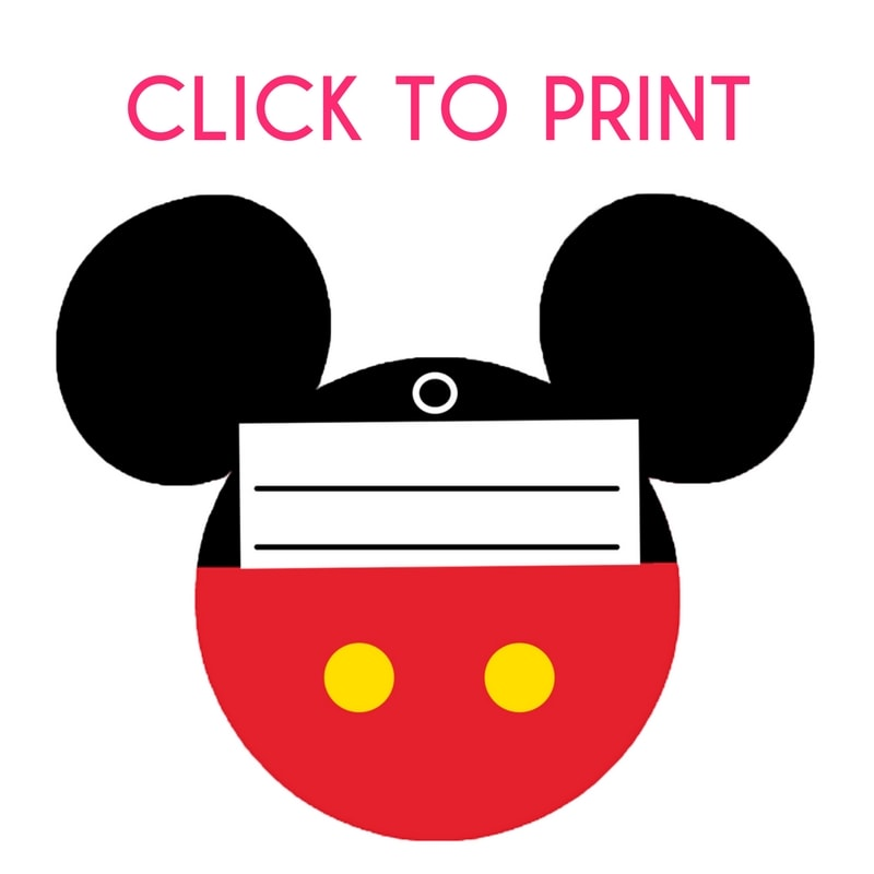 Free Printable Mickey Mouse Luggage Tags - Brought to You ...