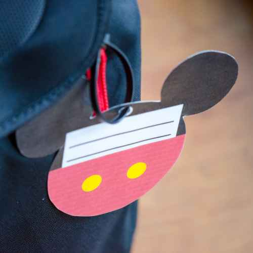 Free Printable Mickey Mouse Luggage Tags