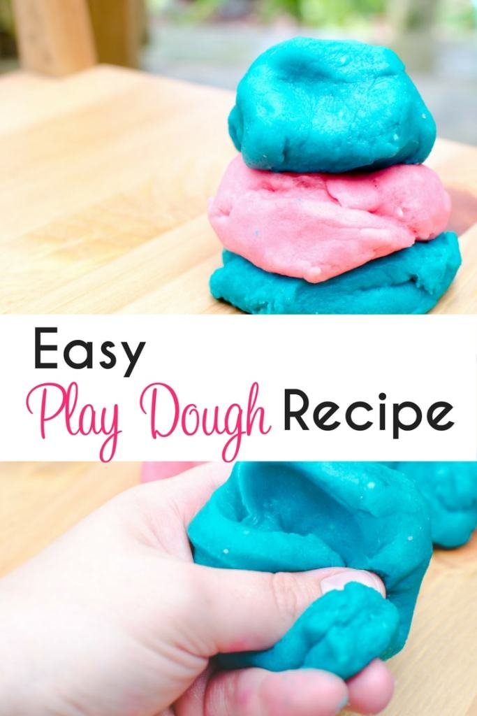 Easy play dough recipe for indoor kid activity play. Homemade play dough that is simple to make with ingredients you already have.