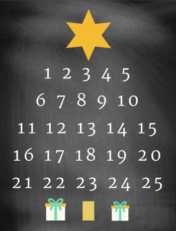 A Christmas Tree Countdown Printable that is simple to print and frame to countdown to the big day this holiday season. An instant Christmas decor favorite.
