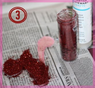 Step 3 - apply glue and glitter