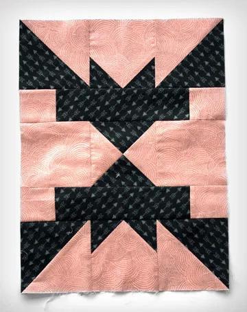 Bat quilt block