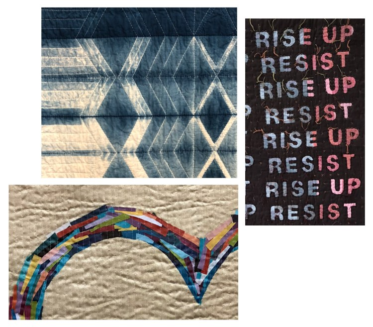 Quilt images showing texture.