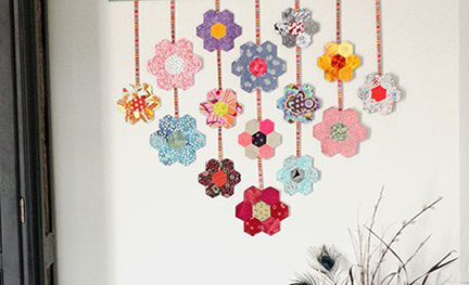EPPed flower wall hanging