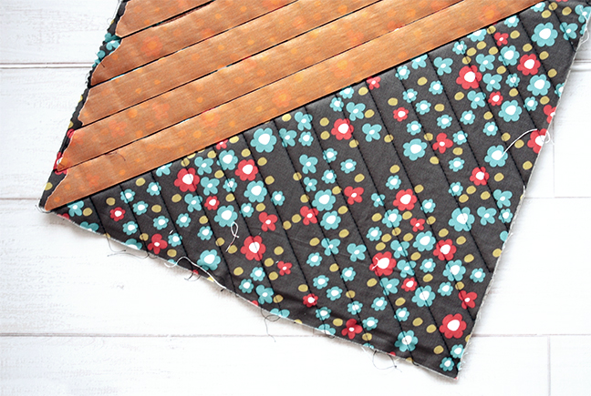 Use painters tape to help you quilt diamonds