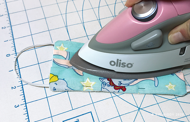 Oliso mini iron making Handmade Face Masks