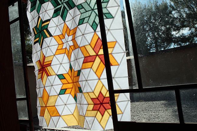 I love how a quilt top can look like stain glass