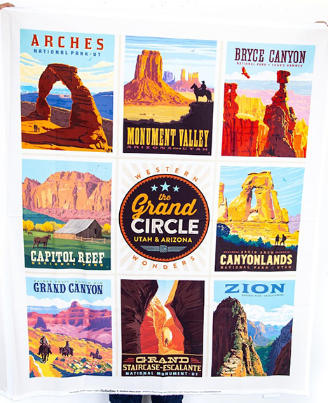 The Grand Circle Poster Panel by Riley Blake Designs