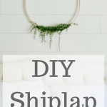 DIY Shiplap master bedroom
