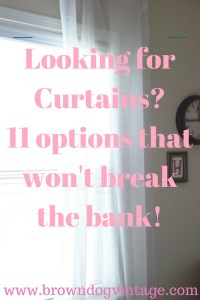 curtains budget friendly