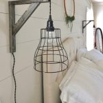 diy farmhouse style pendant cage lights