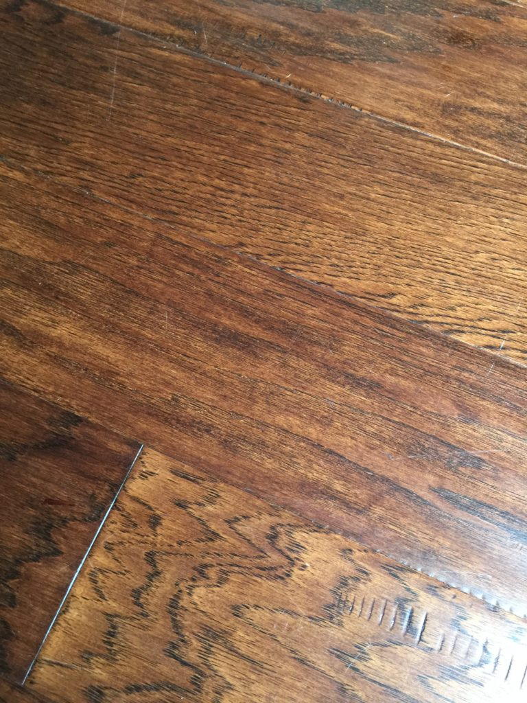 diy super simple fix for scratches on wood floors brown dog vintage. Black Bedroom Furniture Sets. Home Design Ideas