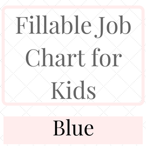 Fillable Job Chart for kids Blue