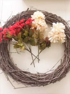 DIY fall wreath and centerpiece for $10