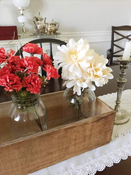 DIY floral fall centerpiece thrifty