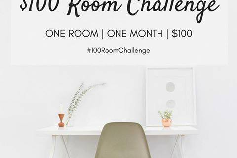 $100 Room Challenge Painting Kitchen Cabinets