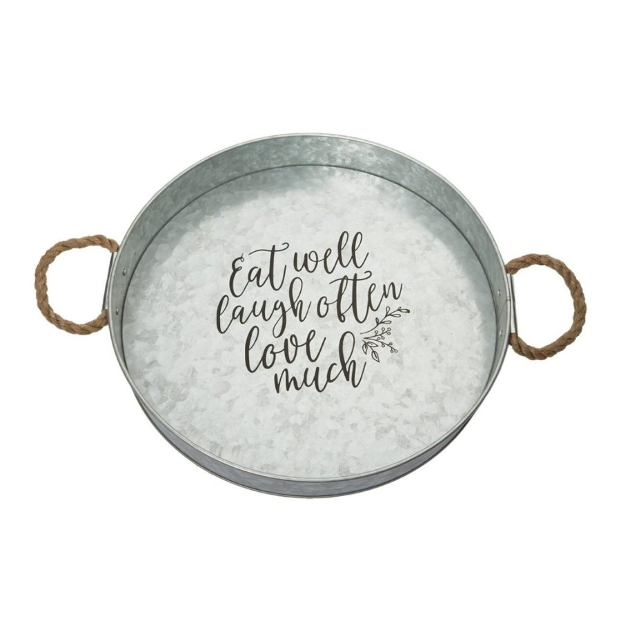 Kitchen decor for $15 or less serving tray galvanized metal