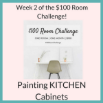 thrifty kitchen makeover painting kitchen cabinets