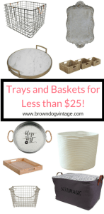 Trays and Baskets for less than $25
