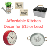 Affordable kitchen decor for $15 or less