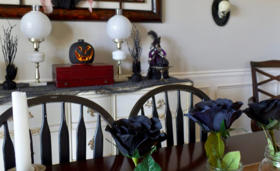 DIY spooky dining room