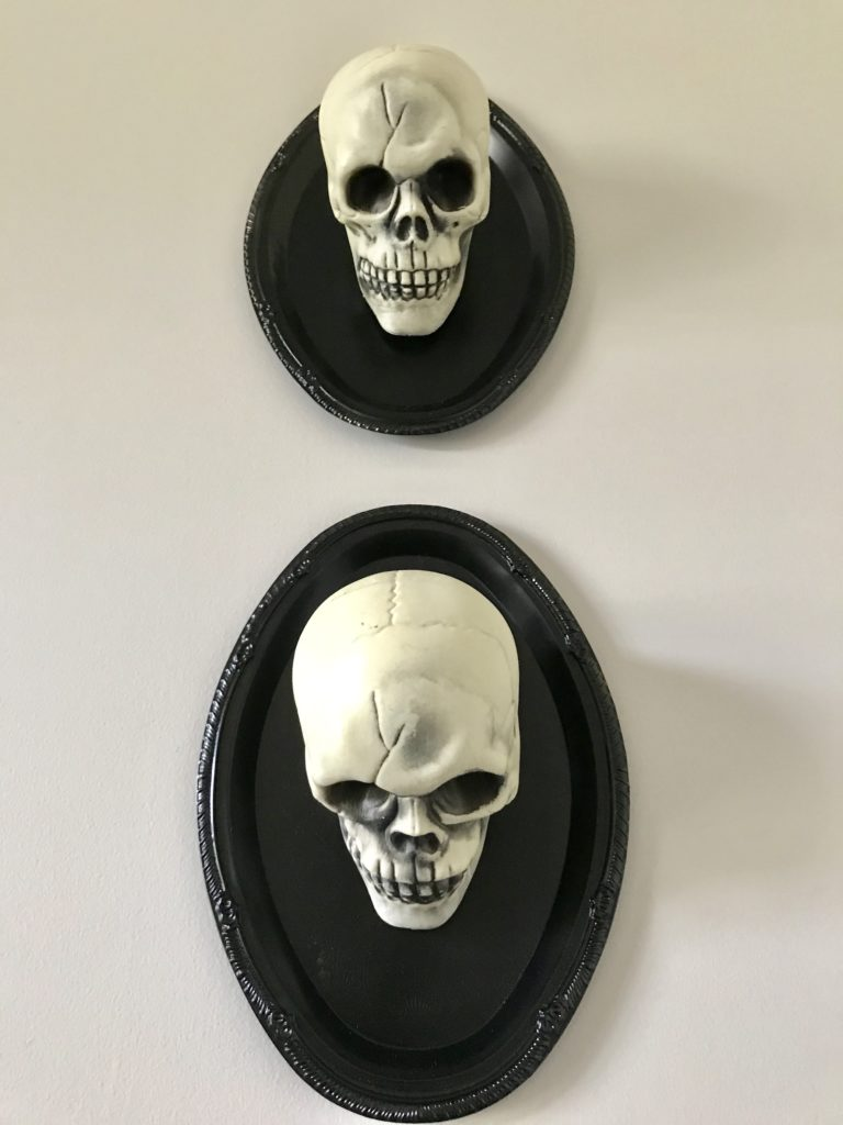 DIY Halloween wall art with dollar store supplies
