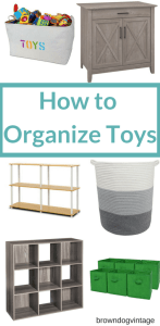 ideas for how to organize toys on a budget