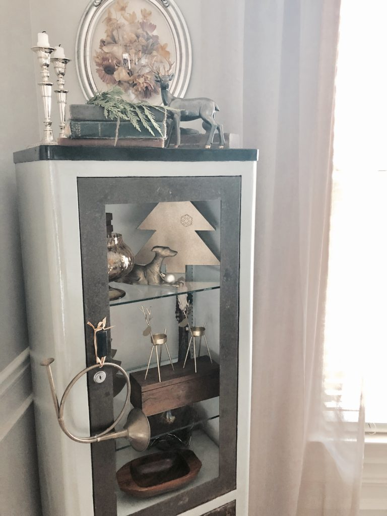 christmas dining room antique medical cabinet