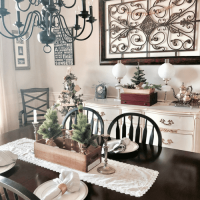 Christmas Dining Room and DIY Ornaments