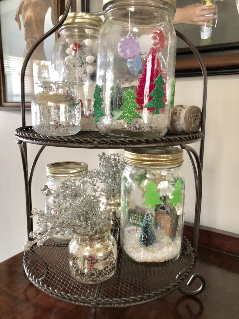 merry and bright diy snow globes