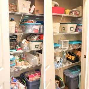 Craft Closet Makeover and Organizing Ideas