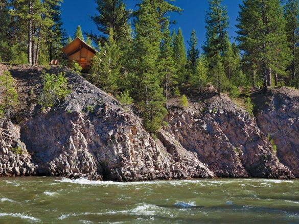 The Resort at Paws Up June 2013 Across the River from Cliffside Camp
