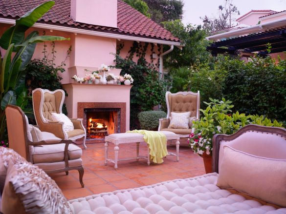 Hotel Bel-Air Fireplace Courtyard Event