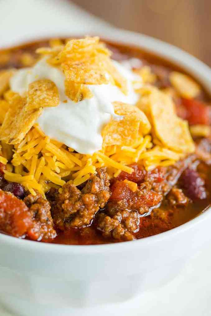 The Best Chili Recipe | Brown Eyed Baker