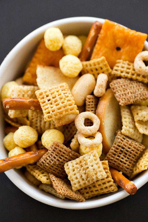 Nuts and Bolts Homemade Snack Mix | Brown Eyed Baker