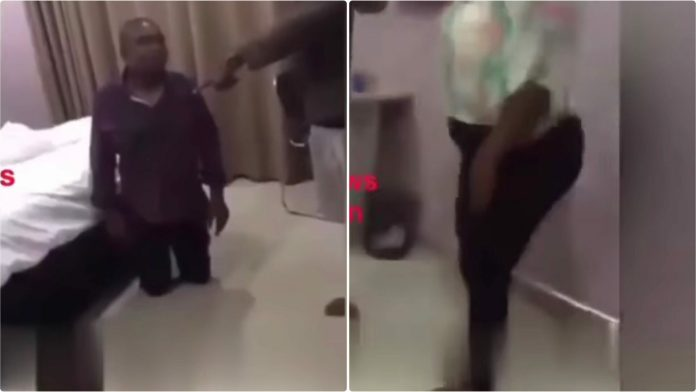 Man catches cheating wife in bed with another man in a hotel & this happened