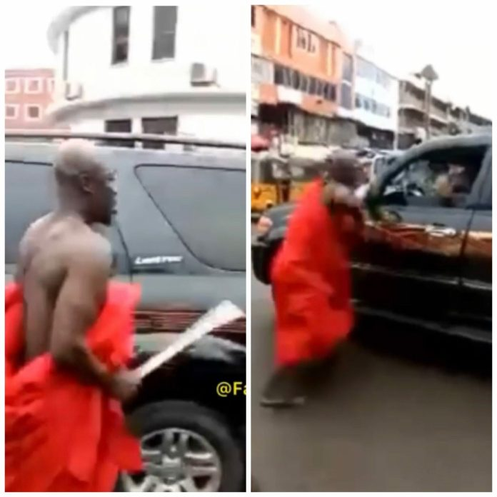 Angry husband attacks man with cutlass for sleeping with his wife