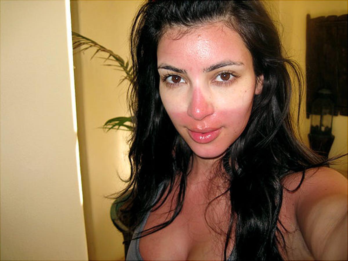Kim Kardashian, tanning
