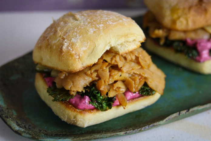 Leftover Special- Thanksgiving Turkey Sandwich with Cranberry Aioli & Kale Chips