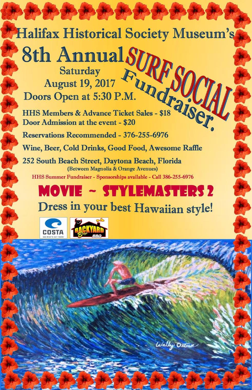 Surf's Up! Halifax Historical Society 8th annual Fundraiser