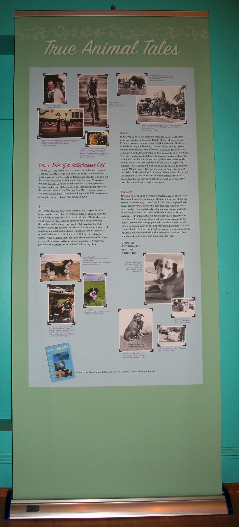 "Sign from Exhibit ""Pets in Florida"" at the Natural History Museum in Tallahassee in 2008"