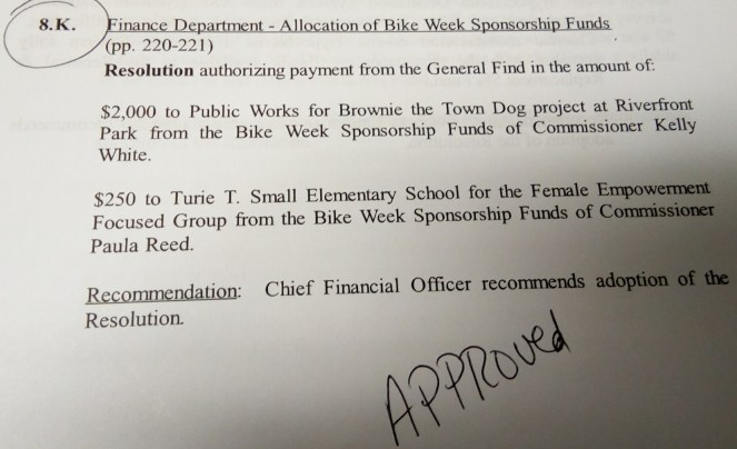 Approved: Final Funds for Brownie the Town Dog Project