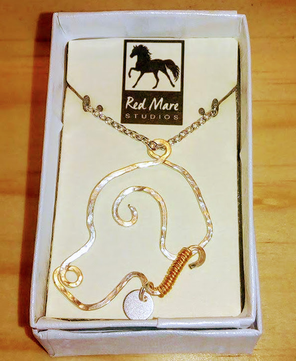 Brownie the Town Dog inspired necklace from Red Mare Studios
