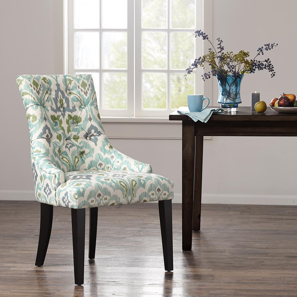 Corbel Tufted Back Dining Chair Set Of 2 Brown Interiors