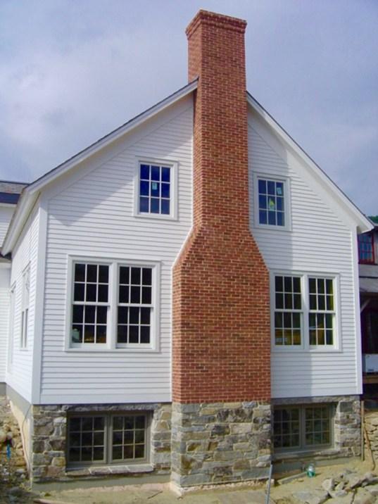 brick & stone chimney