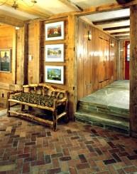 stone & brick hallway