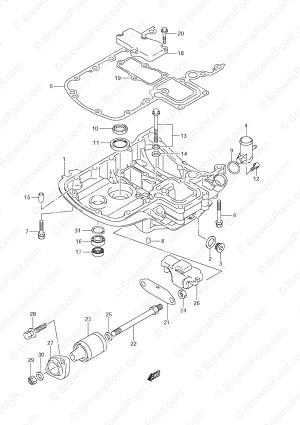 Fig 40  Engine Holder  Suzuki DF 140 Parts Listings